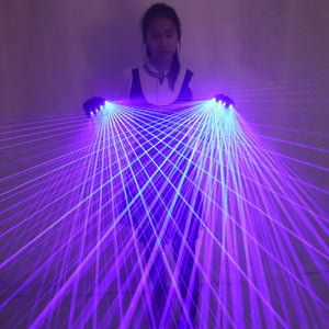 2 In 1 Multi-line Blue Laser Gloves with 4pcs Laser ,Stage Gloves for LED Luminous Laser Show