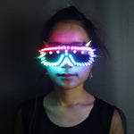 Cargar imagen en el visor de la galería, Full Color Led Luminous Glasses Can Change 7 Colors Flashing Halloween Party Light Up Eye wear