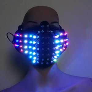 Colorful LED Masks Hero Face Guard PVC Masquerade Party Halloween Birthday LED Masks
