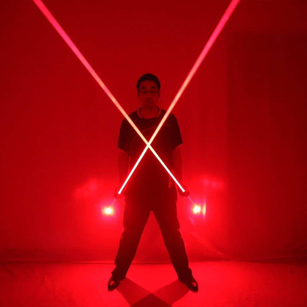 Dual Direction Red Laser Sword for Laser Man Show Big Beam Double Headed Laser Stage Performance Props