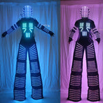 Load image into Gallery viewer, Stilts Walker RGB LED Lights Dancer Costume Colorful Led Robot Men Suit Performance Electronic Music Festival DJ Show Clothes