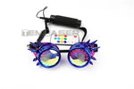 Cargar imagen en el visor de la galería, Full Color LED Glasses Pixel Laser Goggles with Pads Intense Multi-colored 350 Modes Rave EDM