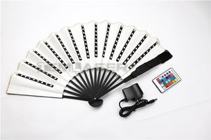 RGB LED Fan Stage Performance Dancing Lights Fans Rechargeable Remote Control Color Changing Light Stage Performance Props Gift