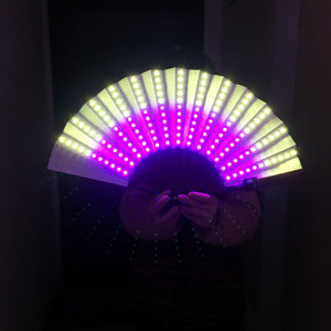 Full Color LED Fan Stage Performance Dancing Lights Fans Over 350 Modes Microlights Infinite Colors Rave Club EDM Music Party
