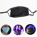 Load image into Gallery viewer, LED Flashing Mask Rechargeable 7 Colors Luminous Lamp for Men Women Rave Mask Dancing Party Mask Funny Props Masque