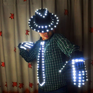LED Costume Clothes Festive Party Supplies LED Stage Wear LED Suit  for Michael Jackson  Jacket Cosplay Costume