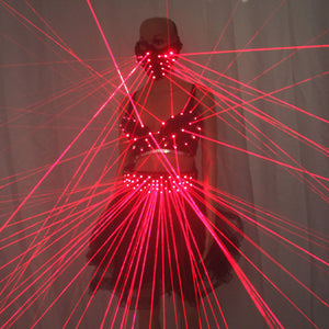 Lady Clothing Laser Bra and Girdle Laser Red Laser for Night Club Led Luminous Women Suit Laser Show