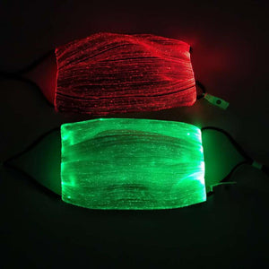 LED Flashing Mask Rechargeable 7 Colors Luminous Lamp for Men Women Rave Mask Dancing Party Mask Funny Props Masque