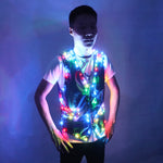 Cargar imagen en el visor de la galería, Colorful Led Luminous Vest Ballroom Costume Jacket DJ Singer Dancer Performer Stage Wear Waiter Clothes