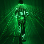 Load image into Gallery viewer, Green Laser Armor Suit  LED Glow Vest Waistcoat Laser Gloves and Glasses  For Bar EDM Party Performances