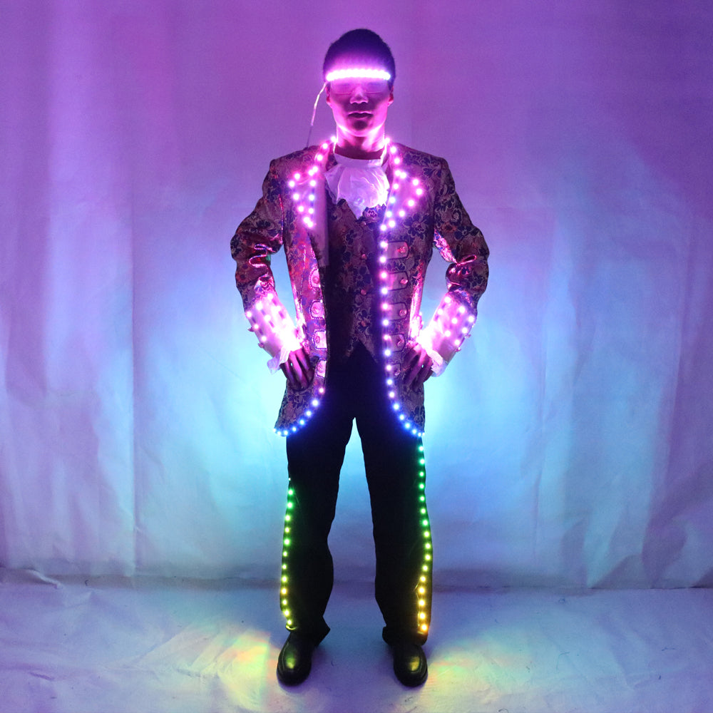 LED Court Suits Symphony of Light-emitting Tuxedo Full-color Digital Pixel LED Running Horse 350 Kinds of Effects