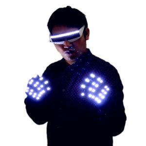LED Glasses Creative Fashion Luminous Gloves DJ Bar Party Products Halloween Stage Dance Lighting Props