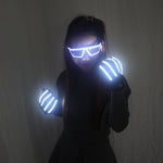 Cargar imagen en el visor de la galería, LED Light Emitting Luminous Glasses Gloves Stage Props for Children Birthday Gift Laser Stage Props Party Supplies