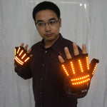Load image into Gallery viewer, LED Glow Gloves Rave Light Flashing Finger Lighting Glow Mittens Magic Black Luminous Gloves Party Supplies Halloween