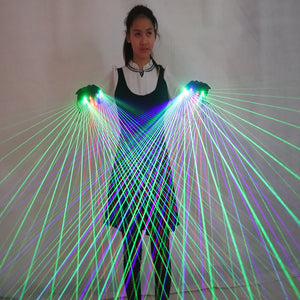 2 In 1 Colorful RGB Laser Gloves with 4 Pcs Laser for Stage Laserman DJ Show Performance Event  Party Supplies