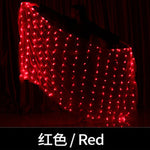 Carica l'immagine nel visualizzatore di Gallery, Belly Dance LED Veils Light Silk Performance Props Accessories Rainbow Colored Rectangle LED Veil Silk