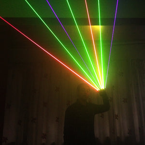 RGB Laser Gloves with 7pcs Laser 3Green 2Red 2Violet Blue Stage Gloves for DJ Club Party Show