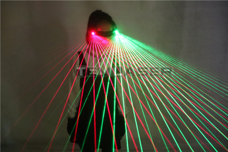 Red Green Bule Beams Stage Laser Glasses DJ Stage Laser Show Sunglasses Goggles Ballroom Dance Acessories