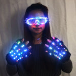 Load image into Gallery viewer, High Quality LED Laser Gloves  LED Light up LED Glasses Bar Show Glowing Costumes Prop Party DJ Dancing Lighted Suit