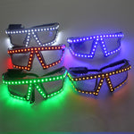 Cargar imagen en el visor de la galería, Fashion Christmas LED Glasses, Laser Stage Props Night Club Super Bright LED Glasses Event Party Supplies