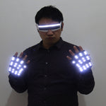 Load image into Gallery viewer, LED Gloves Flashing Skeleton Stage Props Flash Gloves for Holiday Party Events Shows