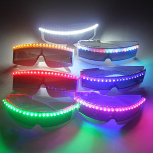 LED-Brille Luminous Light Up Party für Erwachsene Glowing Dance Festival Augenmaske Halloween Kostüm Dekor