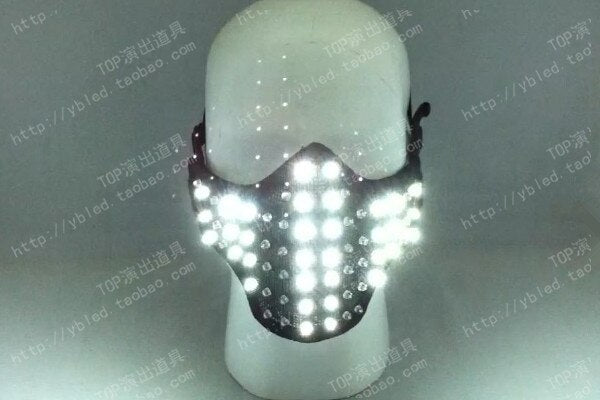LED Glowing Light Masks Hero Face Guard PVC Masquerade Party Halloween Birthday LED Masks