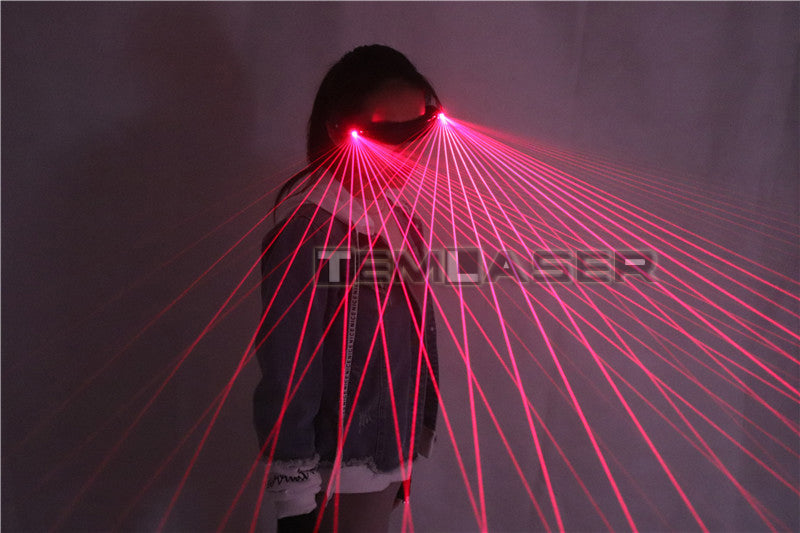 Red Laser Glasses 650nm LED Gloves for Pub Club DJ Shows with RED Laser LED Stage Glasses