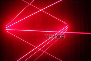 Red Laser Gloves with 4pcs Laser LED Laser Gloves Luminous Glasses for LED Robot Suits DJ Club Party Show