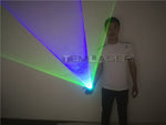Load image into Gallery viewer, Blue Green Handheld Laser Cannon Rotating gloves  LED gyro palm light DJ Dancing Club Pub Party Laser Show