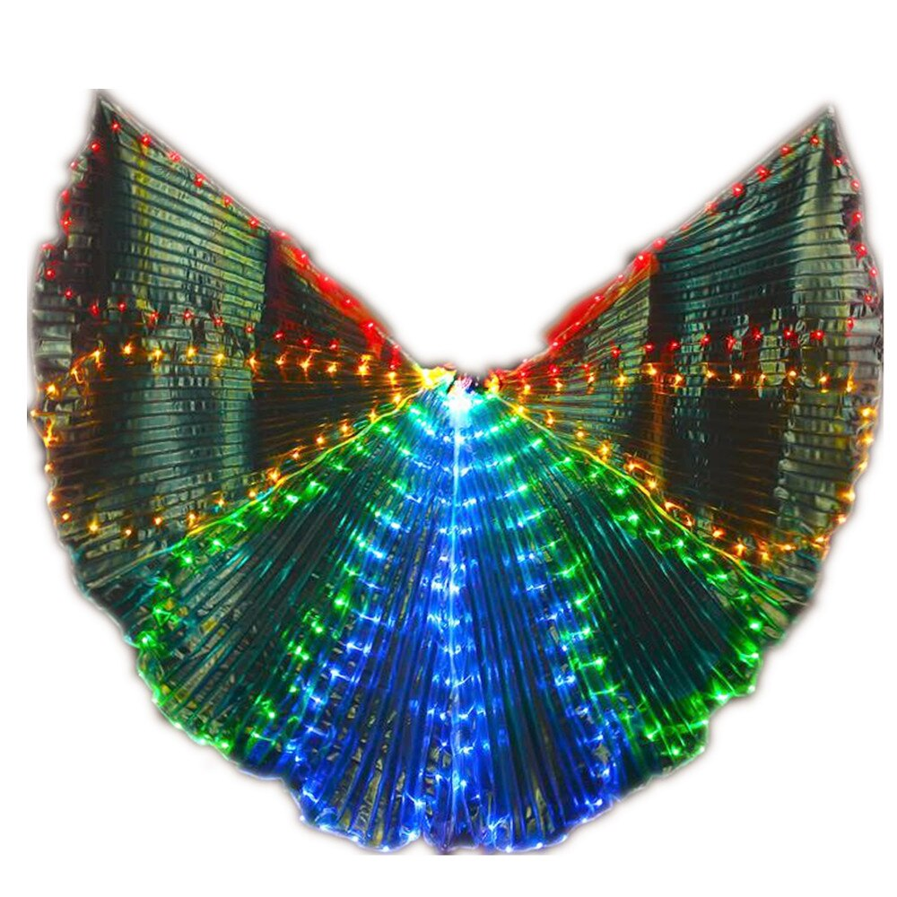 Isis Wings Belly Dance Led Dance Stick Led Butterfly Wing Opening Adults Lamp Props 360 Degrees Performance Accessories