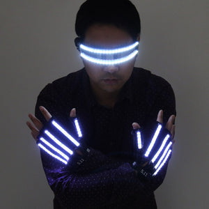 Gants LED Laser Show Garment Stage Props Nightclub Singer Dancer Bright LED Light Gants