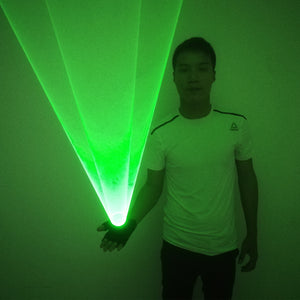 Green Laser Whirlwind Handheld Laser Cannon for DJ Dancing Club Rotating Lasers Gloves Light Pub Party Laser Show