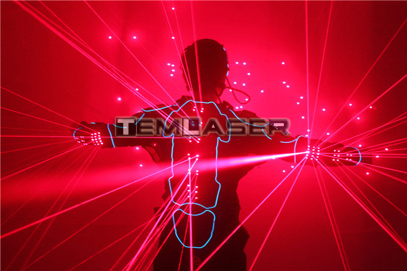 Laser Robot Suits Red Laser Waistcoat LED Clothes 650nm Laser Man Stage Costumes For Nightclub Performers