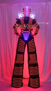 Traje de Robot LED Laser Suit Costume Clothing used with High Heel Predator led Costume Laser Gloves