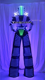 Load image into Gallery viewer, Traje de Robot LED Laser Suit Costume Clothing used with High Heel Predator led Costume Laser Gloves