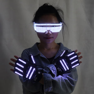 New Design LED Light Emitting Costumes LED Luminous Glasses Gloves Stage Props For Children Birthday Gift