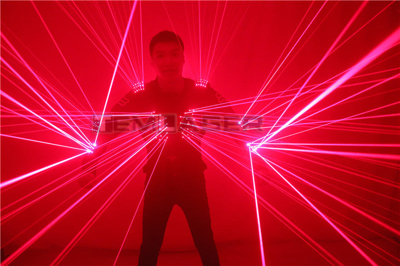 Red Laser Waistcoat LED Clothes,  Laser Robot Suit Laser Man Costumes for Nightclub Performers