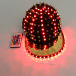 Load image into Gallery viewer, Woman Men LED Light Up Flashing Sequin Jazz Hat Cap Bow Tie Glow Rave Party Wedding Concert Bar Parade Adult Dance Show Wear