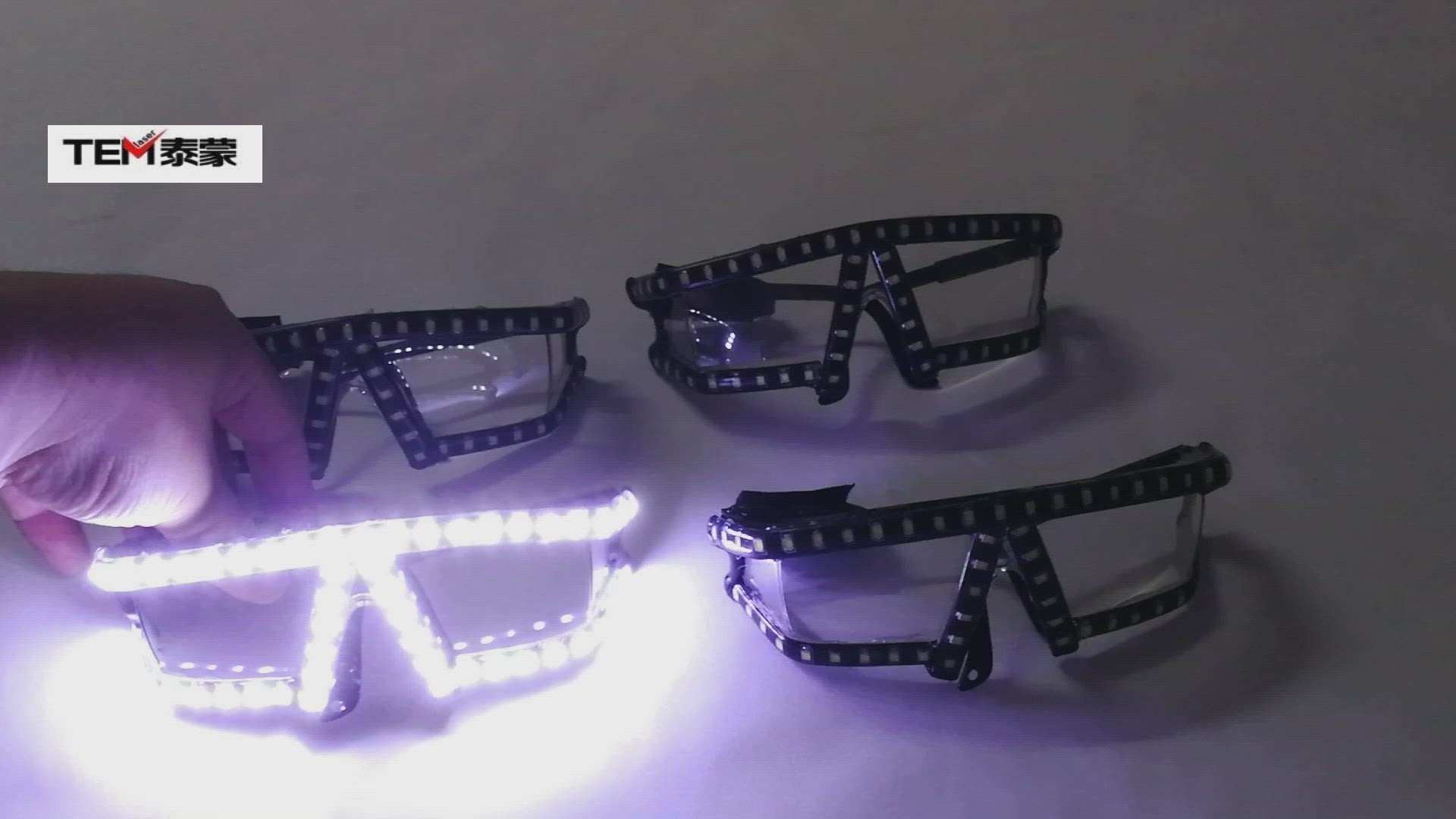 LED Lunettes Rave LED Glow Glasses Party pour Pâques Noël Halloween Anniversaire Night Bar Performance Stage Costume Vêtements