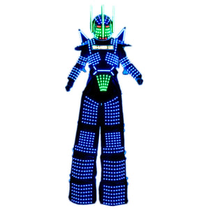 LED Light Suits Robot Clothes LED Stilts Walker Costume LED Robot Suits Party Ballroom Disco Nightclub Stage Robot Dress Show