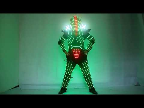 Traje De LED Robot Suit Costume Robot Armor Used with High Heel Predator Led Costume Laser Gloves