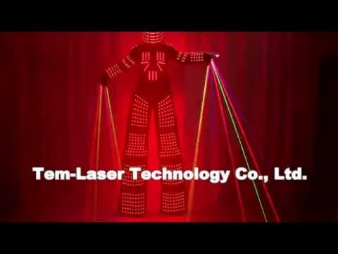 Dancing dancing dancing dancing color LED robot Performance Electronic Music Festival DJ Show