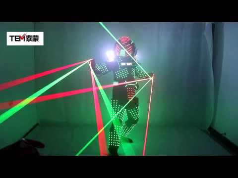 LED Robot Costumes Clothes LED Lights Luminous Stage Dance Performance Show Dress for Night Club
