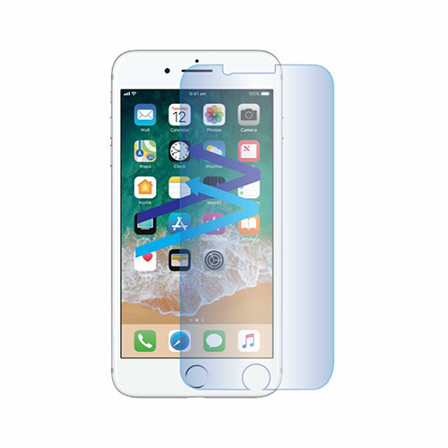 Blue light screen protector for iPhone 8