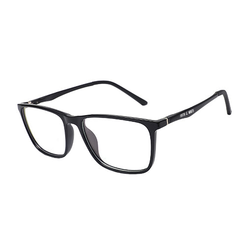 black rectangular gaming glasses