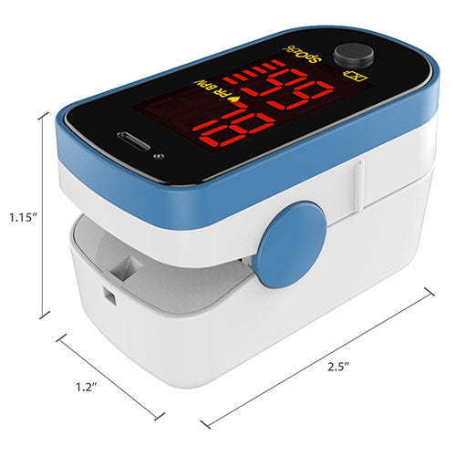 small fingertip pulse oximeter
