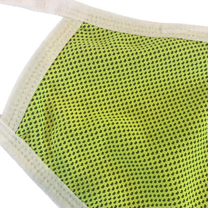 lime green breathable face mask