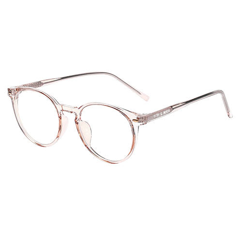 Chandler Round Blue Light Glasses in tan