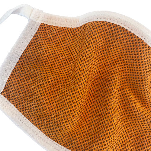 orange breathable face mask